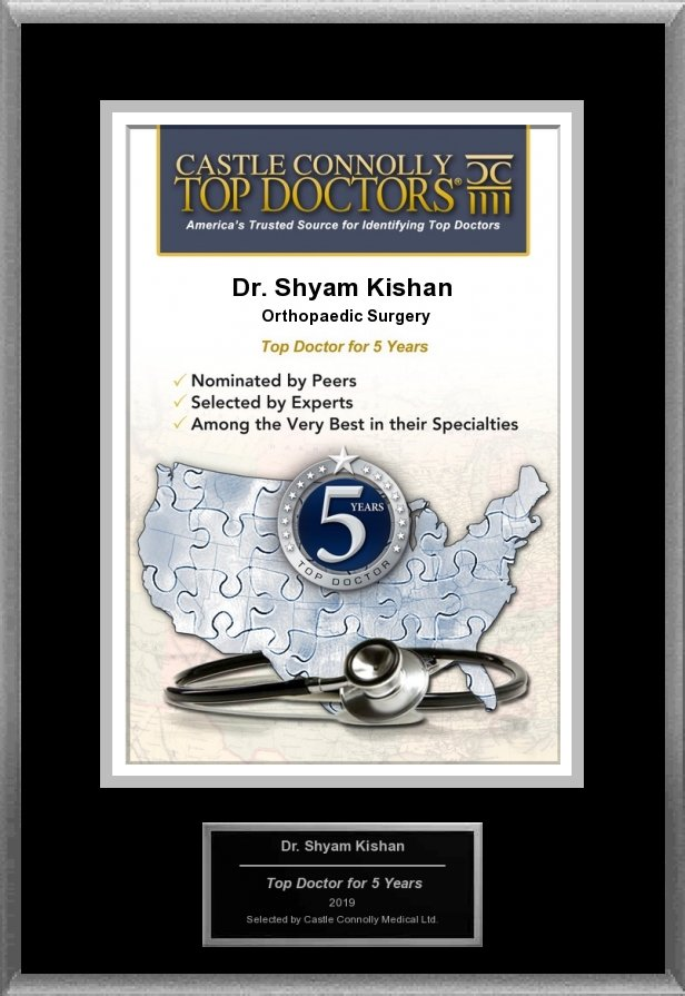 Top Doctor for 5 years for Shyam Kisham MD